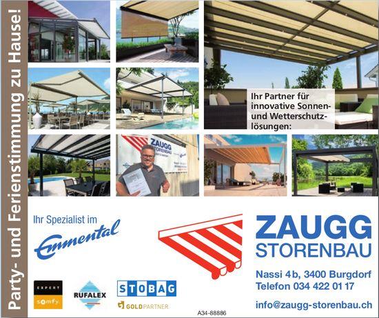 Zaugg Storenbau, Burgdorf - Ihr Partner für innovative Sonnen- und Wetterschutzlösungen