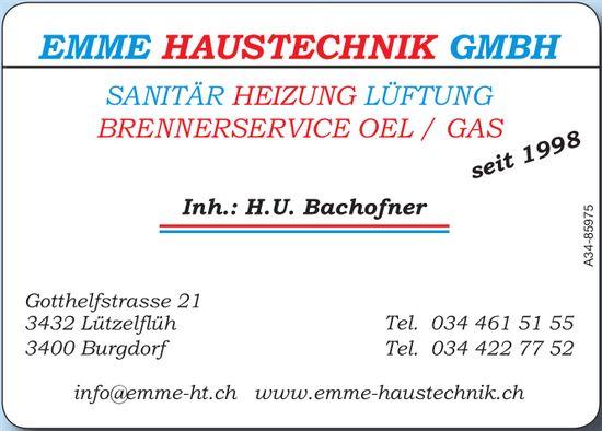Emme Haustechnik GmbH, Burgdorf - Sanitär, Heizung, Lüftung