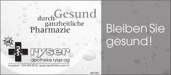 Apotheke Ryser AG, Burgdorf - Bleiben Sie gesund!
