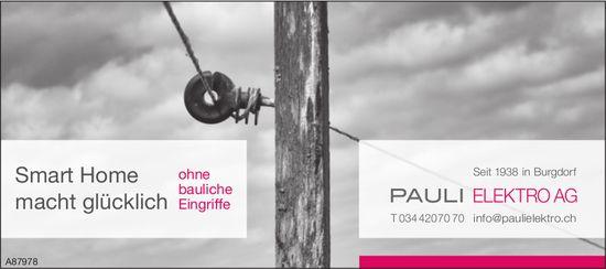 Pauli Elektro AG, Burgdorf - Smart Home macht glücklich