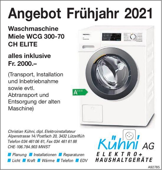 Kühni AG Elektro + Haushaltgeräte, Lützelflüh - Angebot Frühjahr 2021