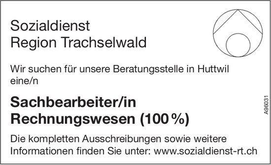 Sachbearbeiter/in Rechnungswesen (100%), Sozialdienst Region Trachselwald, Huttwil, gesucht