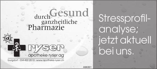Apotheke Ryser AG, Burgdorf - Stressprofilanalyse; jetzt aktuell bei uns.