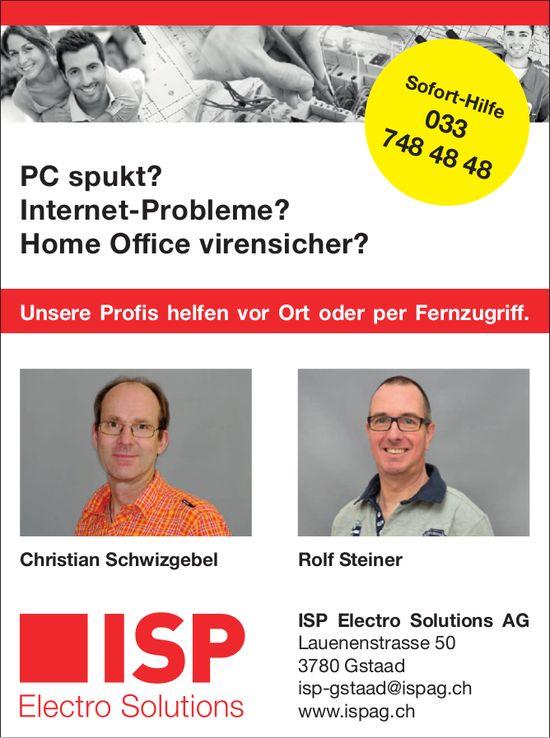 ISP Electro Solutions AG,  Gstaad - Unsere Profis helfen vor Ort oder per Fernzugriff.