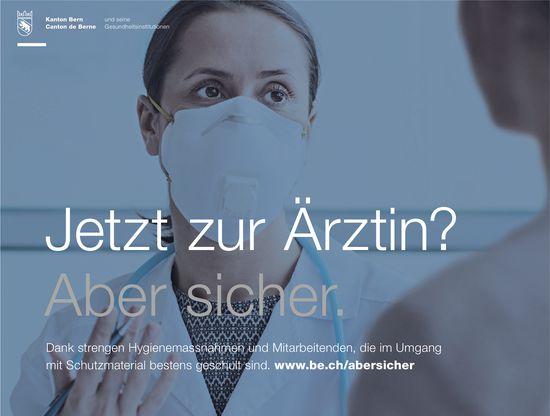 Kanton Bern - Jetzt zur Ärztin? Aber sicher.