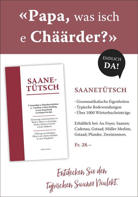 Saanetütsch - «Papa, was isch e Chäärder?»