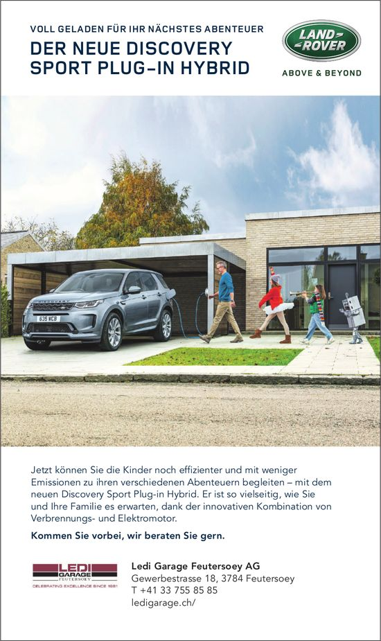 Ledi Garage Feutersoey AG -  Der Neue Land Rover Discovery Sport Plug-in Hybrid