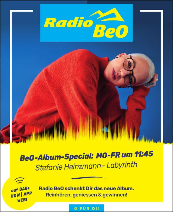 Radio BeO - BeO-Album-Special: Stefanie Heinzmann – Labyrinth