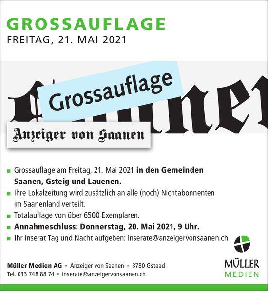 Anzeiger von Saanen, Gstaad - Grossauflage, 21. Mai