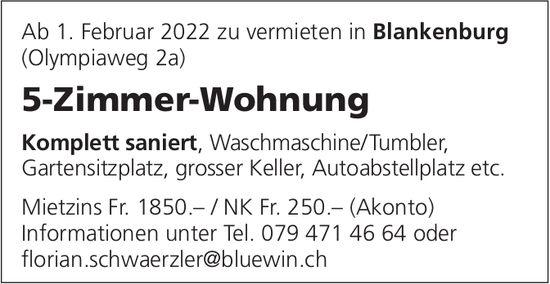 5-Zimmer-Wohnung, Blankenburg, zu vermieten