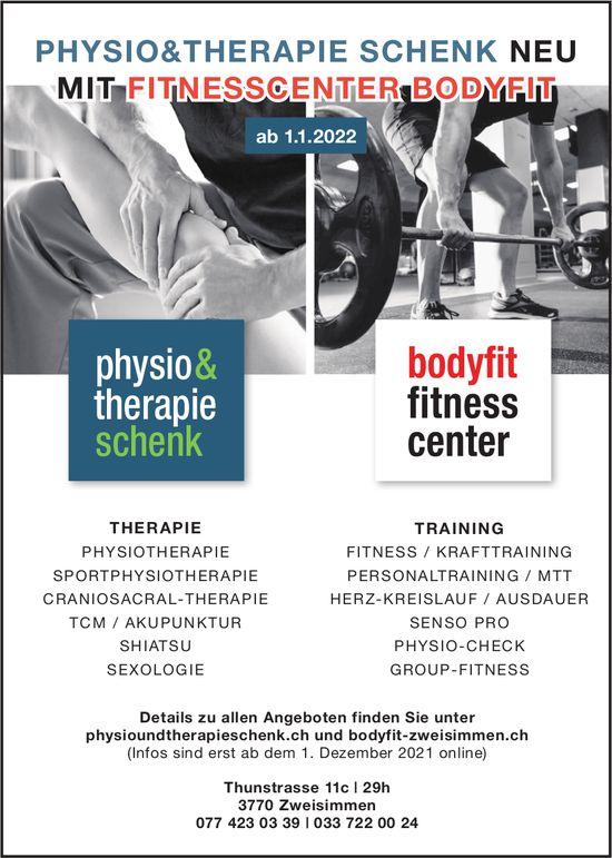 Physio & Therapie Schenk, Zweisimmen - Physio & Therapie Schenk neu mit Fitnesscenter Bodyfit