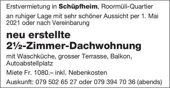2.5-Zimmer-Dachwohnung, Schüpfheim, zu vermieten