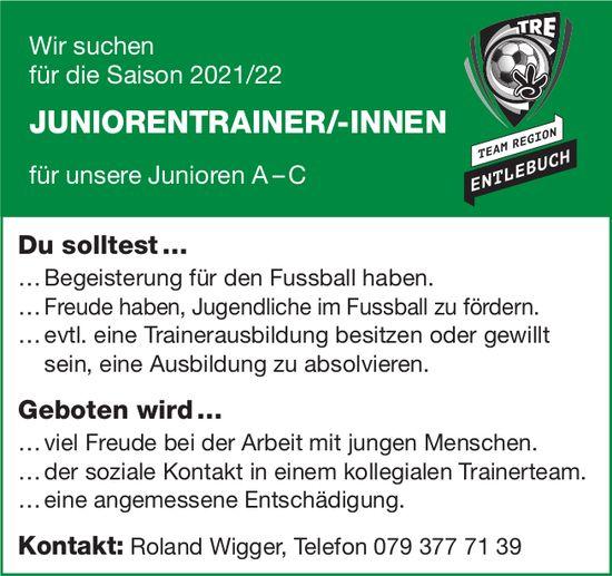 Juniorentrainer/-Innen, Team Region, Entlebuch, gesucht