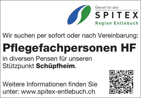 Pflegefachpersonen HF, Spitex Region Entlebuch, Schüpfheim, gesucht