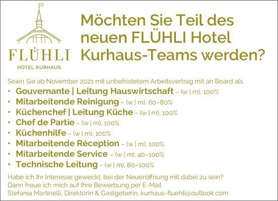 Möchten Sie Teil des neuen Flühli Hotel Kurhaus-Teams werden?