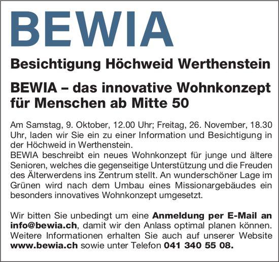 Besichtigung Höchweid, 9. Oktober & 26. November, Werthenstein