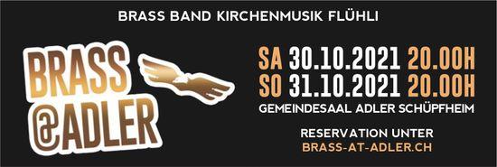 Brass@Adler, 30. + 31. Oktober, Gemeindesaal Adler, Schüpfheim