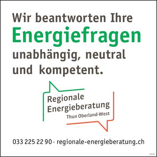 Regionale Energieberatung - Wir beantworten Ihre Energiefragen