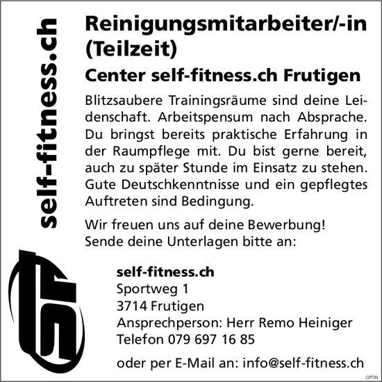 Reinigungsmitarbeiter/-in (Teilzeit), Center self-fitness, Frutigen, gesucht