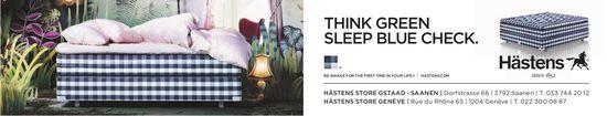 Hästens Store, Saanen - Think Green Sleep Blue Check.