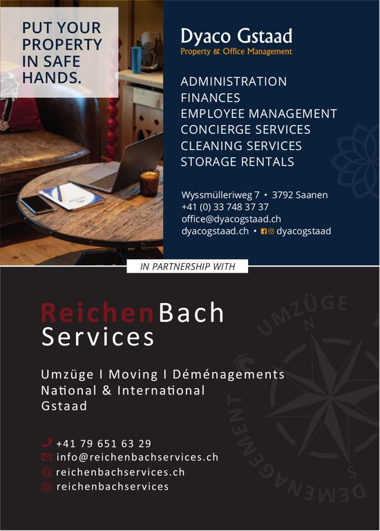 Dyaco Gstaad & Reichenbach Services, Saanen - Put your Property in safe hands.