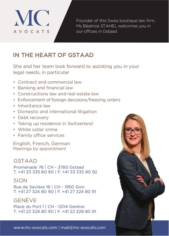 MC Avocats - In the heart of Gstaad