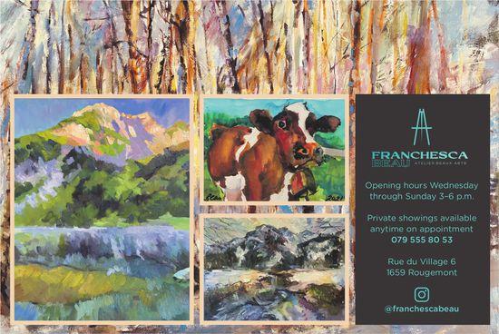Franchesca Beau, Rougemont - Opening hours Wednesday through Sunday 3–6 p.m.