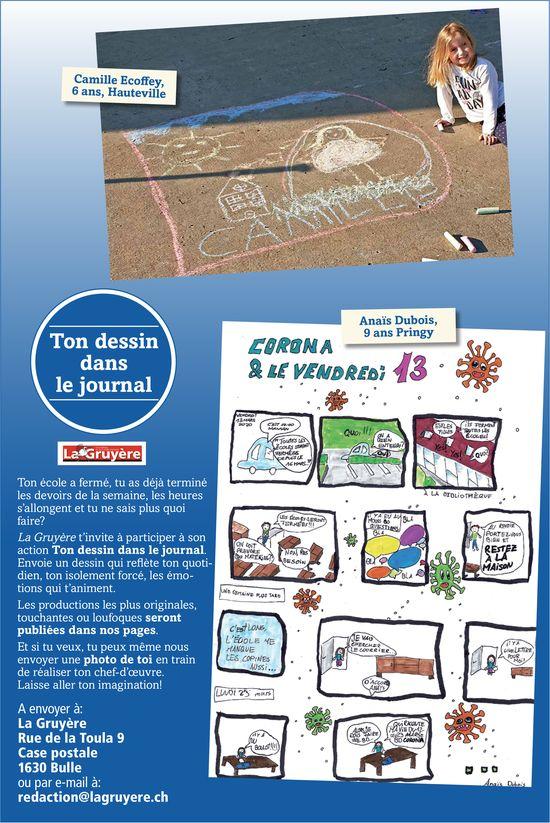 La Gruyère - Ton dessin dans le journal