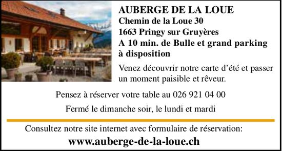Auberge De La Loue, Pringy, Venez découvrir notre carte d'été