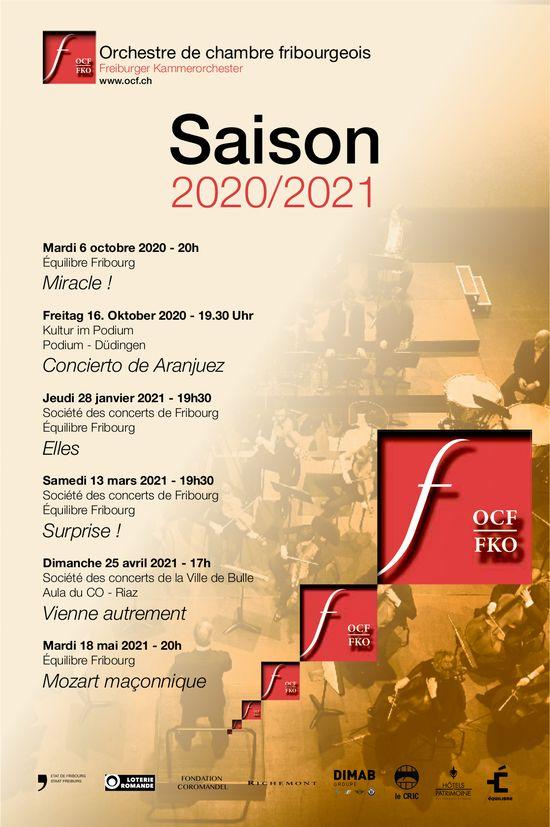 Saison 2020/2021, 6. Octobre, Orchestre de chambre fribourgeois
