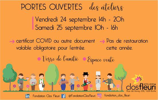 Clos fleuri, Bulle, Portes ouvertes des ateliers 24 et 25 septembre