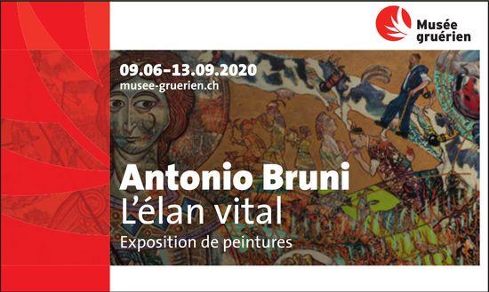 Musée gruérien, 9 juin au 13 septembre, Antonio Bruni exposition de peinture