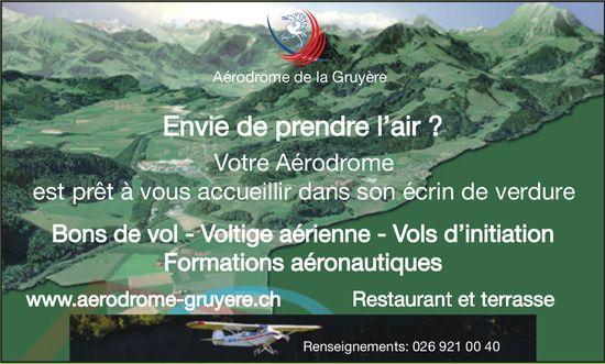 Aérodrome de la Gruyère -  Envie de prendre l'air ?