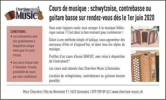Charrière Music, Semsales, Cours de musique : schwytzoise, 1er juin 2020