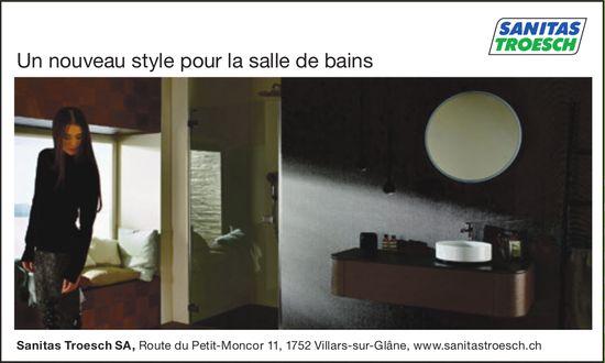 Sanitas Troesch SA, Villars-sur-Glâne, Un nouveau style pour la salle de bains