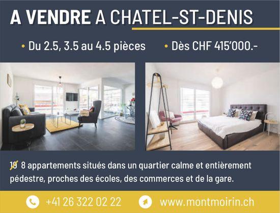 8 appartements 2.5 à 4.5 pièces, Châtel-St-Denis, à vendre