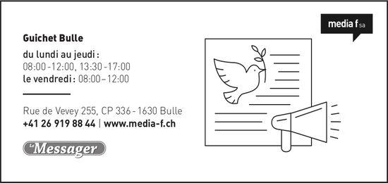 Media f SA - Guichet Bulle