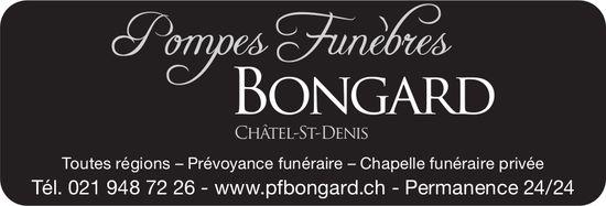 Pompes Funèbres Bongard, Châtel-St-Denis, Prévoyance funéraire