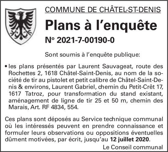 Plans à l'enquête No 2021-7-00190-0 - Commune de Châtel-St-Denis