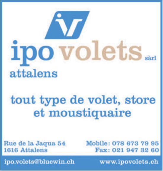 Ipo volets Sàrl, Attalens - tout type de volet-store et moustiquaire