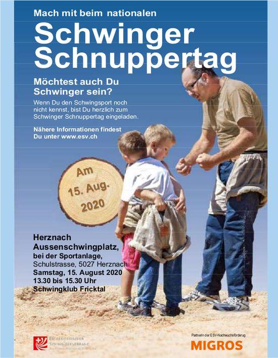 Schwingklub Fricktal - Mach mit beim nationalen Schwinger Schnuppertag am 15. August