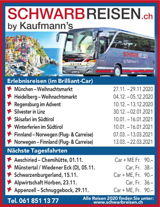 Schwarbreisen.ch by Kaufmann's - Programm & Events