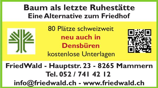 FriedWald, Mammern - Baum als letzte Ruhestätte. Eine Alternative zum Friedhof