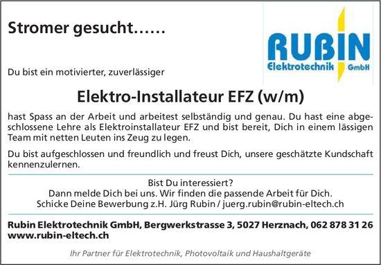 Elektro-Installateur EFZ (w/m), Rubin Elektrotechnik GmbH, Herznach, gesucht