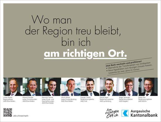 Aargauische Kantonalbank -  Wo man der Region treu bleibt, bin ich am richtigen Ort.