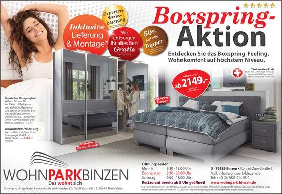 Wohnpark Binzen, 9 Binzen - Boxspring-Aktion