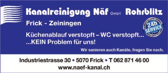 Kanalreinigung Näf GmbH, Rohrblitz, Frick & Zeiningen - Küchenablauf verstopft - WC verstopft...