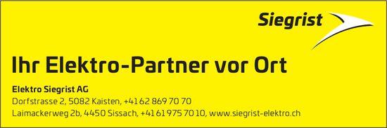Elektro Siegrist AG, Kaisten - Ihr Elektro-Partner vor Ort