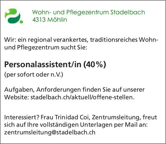 Personalassistent/in (40%), Wohn- und Pflegezentrum Stadelbach, Möhlin, gesucht