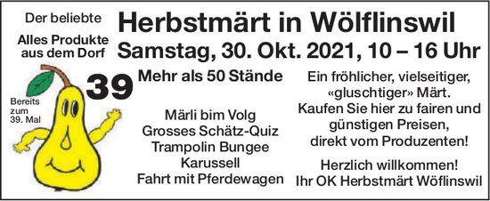 Herbstmärt in Wölflinswil, 30. Oktober